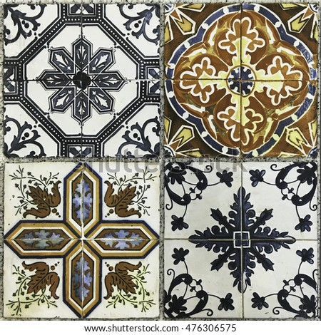 Ceramic tiles patterns.