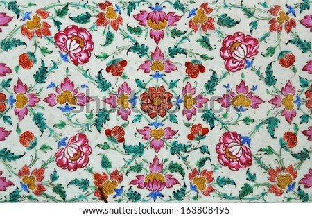 Ceramic tiles patterns from China - stock photo