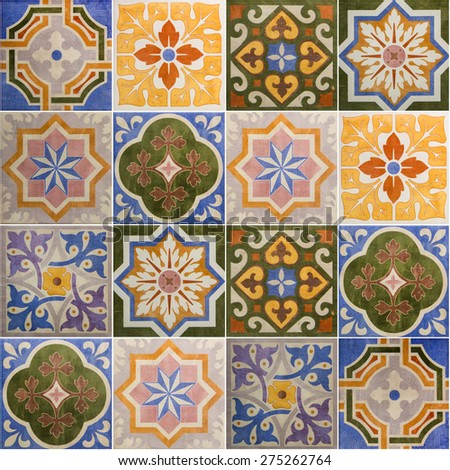 Ceramic Tiles Patterns Portugal Stock Photo (Royalty Free) 275262764 ...