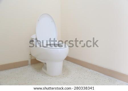 Ceramic toilet - stock photo
