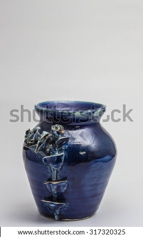 Ceramic vase on a white background