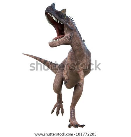 ceratosaurus attack - stock photo