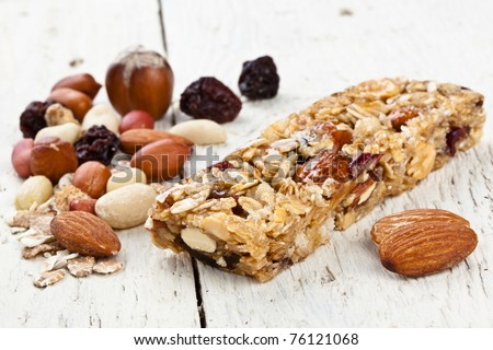 Cereal Bar - stock photo