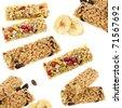 cereal bar set - stock photo