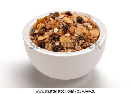 cereal bowl - stock photo