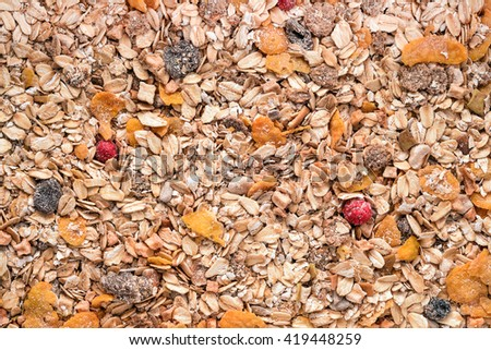 cereal mix background texture - stock photo