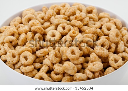 Cereal rings in bowl