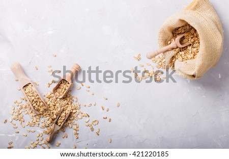 Cereal whole grain in the bag.On a light background.Copy space.selective focus. - stock photo