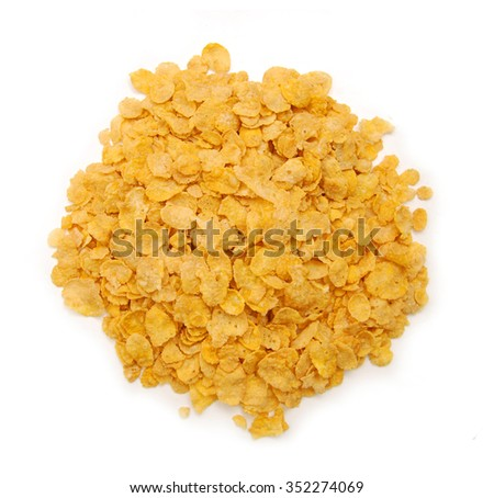 Cereals flakes  on white background - stock photo