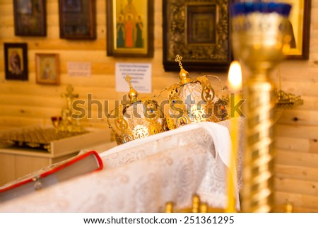 ceremony in christianity church - stock photo