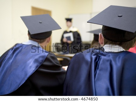 Ceremony of handing of the diplomas of ending of education