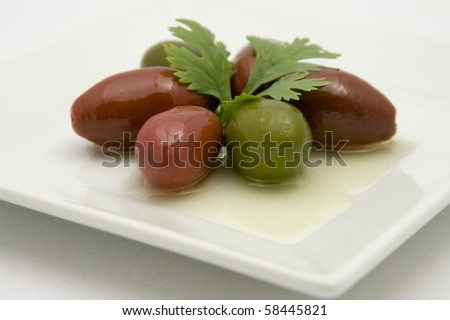 Cerignola Olives - stock photo
