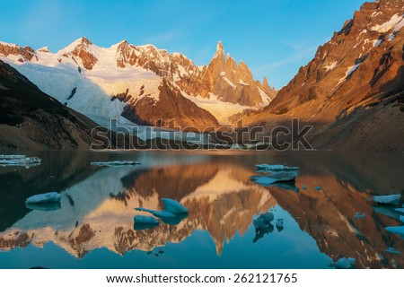 Cerro Torre in Argentina - stock photo