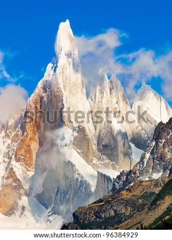 Cerro Torre in Los Glaciares National Park, Patagonia, Argentina - stock photo