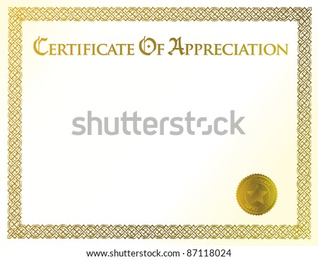 certificate of achievement illustration template - stock photo