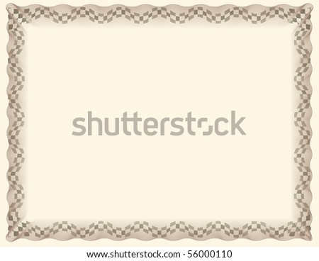 Certificate of Completion Template - stock photo