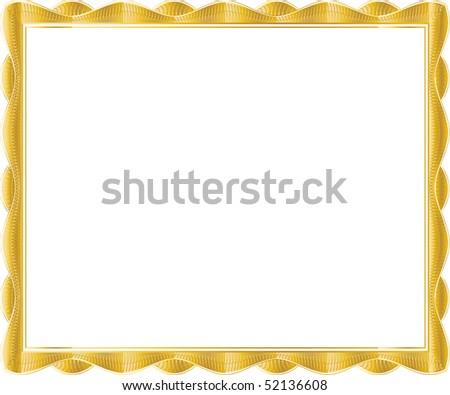 certificate template - stock photo