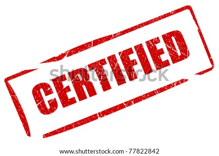 Certified stamp - stock photo
