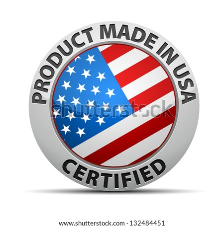 Certified USA Product - stock photo