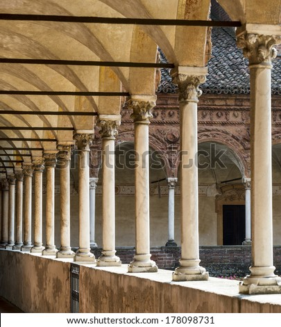 Certosa di Pavia (Lombardy, Italy), cloister of the historic abbey