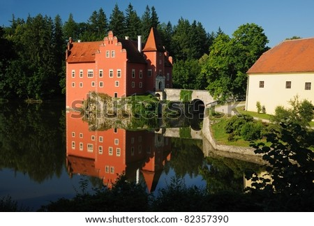 Cervena Lhota State Castle Czech Republic - stock photo