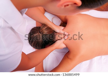 cervical mobilization manual therapy cervical spine - stock photo