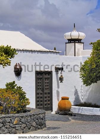 Cesar Marique Foundation, Tahiche, Lanzarote, Canary Islands - stock photo