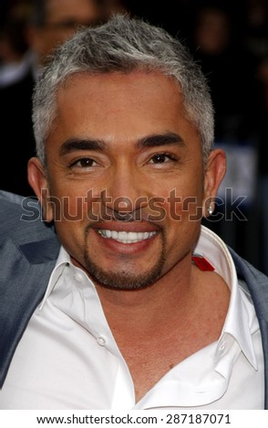 Cesar Millan at the Los Angeles premiere of 'The Back-Up Plan' held at the Regency Village Theatre in Westwood on April 21, 2010.  - stock photo