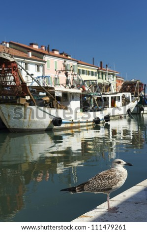 Cesenatico (Fc),Romagna,Italy,the port channel,designed by Leonardo Da Vinci,