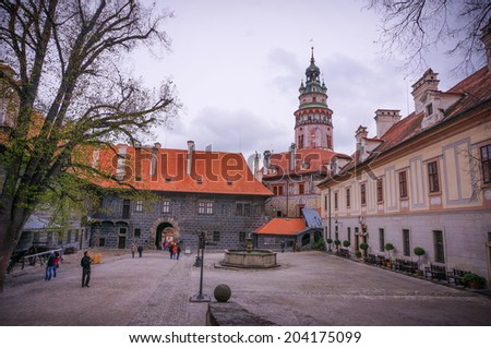 Cesky Krumlov Castle, Cesky Krumlov, Czech Republic - stock photo