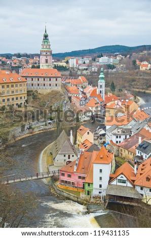 Cesky Krumlov,the most beautiful towm in Czech. - stock photo