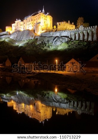 Cesky Sternberk Castle - Bohemia - Czech Republic - stock photo
