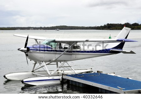 Cesnna Float Plane - stock photo