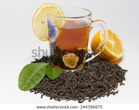Ceylon black tea with lemon.