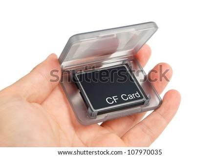 CF card in box - stock photo