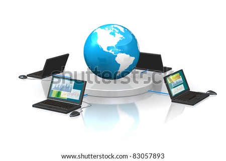 CG image representing the International transaction. This is a computer generated image,with white background.