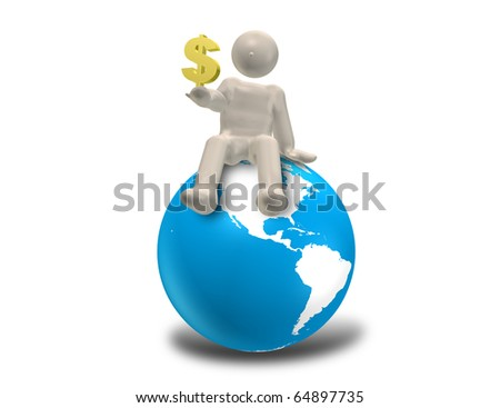 CG image representing the world market.
