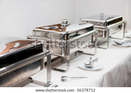 Chafing Dish made of stainless steel at buffet