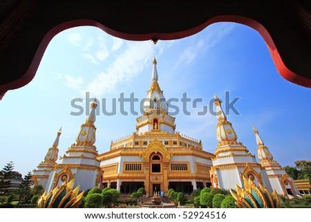 Chai-Mong-Kol pagoda in thailand - stock photo
