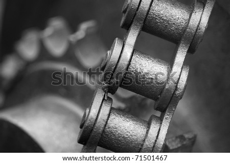 Chain and cog wheels - stock photo