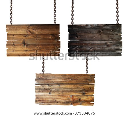 Chain and sign - stock photo