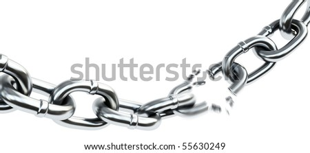 Chain breaking - stock photo