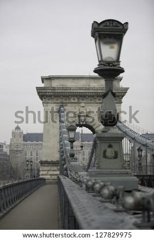 Chain Bridge Budapest, Hungary - stock photo