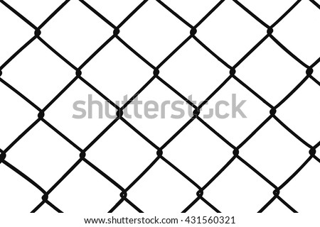 Chain Fence. Vector illustration isolated on white background - stock photo