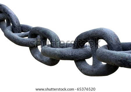 chain isolated on white - stock photo