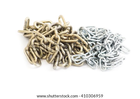 Chain - isolated on white background - stock photo
