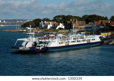 Chain link ferry, Poole - stock photo