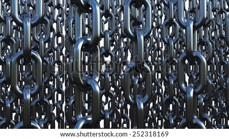 Chain links on a white background - stock photo