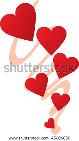 chain of hearts - stock photo