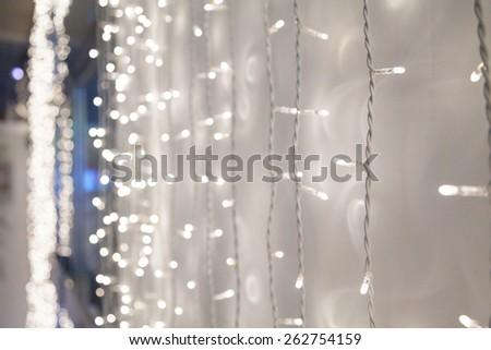 Chain of lights - stock photo